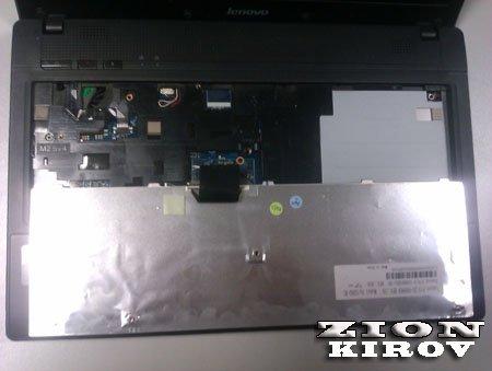 Как снять клавиатуру lenovo g560?